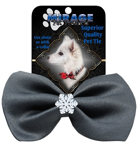 Snowflake Widget Pet Bowtie Grey